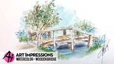 Ai Watercolor - Wooden Bridge