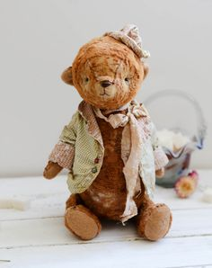 Traditional Bear Afanasy, 12.6 inches,dreams of dancing, send as a gift or keep for yourself FREE SHIPPING ALWAYS. $279.00, via Etsy.