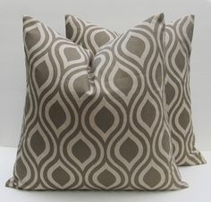 Tan Pillow Decorative Throw Pillow Tan Pillow Cover 16x16 Pillow Cover Decorative Throw Pillows set of TWO Printed Fabric both sides by EastAndNest on Etsy https://www.etsy.com/listing/129513898/tan-pillow-decorative-throw-pillow-tan
