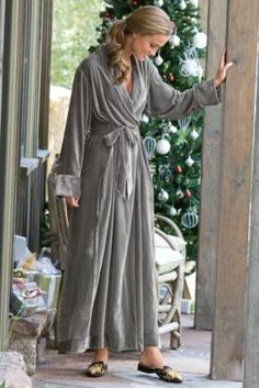 Silk Velvet Robe I from Soft Surroundings