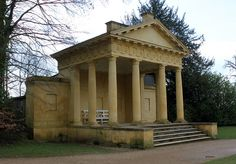 Lake Pavilion: Stowe Landscape Gardens by curry15, via Flickr; and, wouldn't, this, be magnificent, in white! Classical Architecture, Landscape Architecture, Historic Houses, Le Palais, Grand Homes, Playhouses, Villa Design, Neoclassical, Georgian
