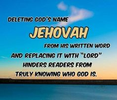 God's name is Jehovah, that has always been his name and it remains forever. Jehovah does not change! The churches removed Jehovah's name and replaced it with Lord or God. But now, the King James version has returned Jehovah's name to their Bible.