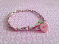 $3.50 Valentine's day rope bracelet friendship by Gisellepinktree