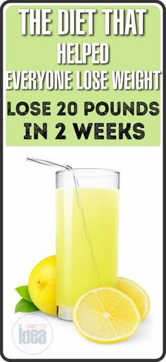 The Diet That Helped Everyone Lose Weight: 20 Pounds Less For Just Two Weeks - Nutri IDEA