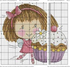 0 petite fée et gros cupcake - little fairy and big cupcake