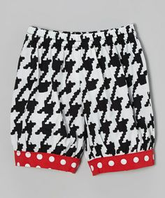 Love this White & Black Houndstooth Bloomers - Infant by Young Colors on #zulily! #zulilyfinds http://www.zulily.com/invite/kcrim608