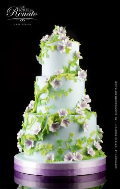 Green color cake