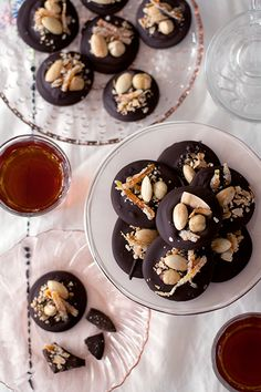 Chocolate Mendiants - with almond, coconut, hazelnut, and candied orange