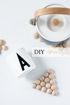 DIY Wooden Bead Triangle Trivet Tutorial