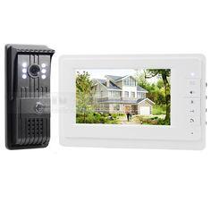 DIYSECUR 7inch HD Screen Video Door Phone Intercom CCD Outdoor unit Camera Night Vision System 1 Camera 1 Monitor V70F-F