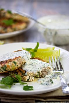 Turkey Burgers with Cilantro Lime Sauce | http://cookswithcocktails.com/turkey-burgers-with-cilantro-lime-sauce/