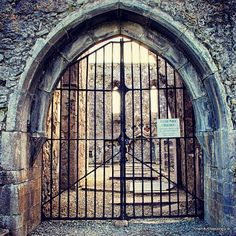Medieval entrance into Athenry Priory, Co Galway. This Dominican foundation dates from the mid 13th century .
