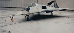 The first HAVE BLUE aircraft in a custom paint scheme designed to disguise the faceting (USAF)