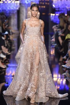 hautepinkeditor: naimabarcelona: Elie Saab couture Fall 2014 Incredible…