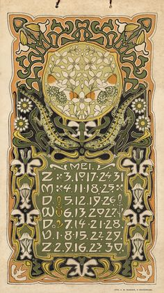 Can't get enough of this !! 1903 calendar by L. Visser