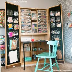 This cabinet holds SO much! Love how it closes to hide everything inside. Very cool!
