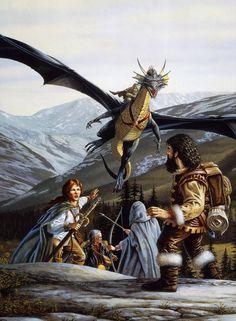 Dragonlance, Heroes, Stormblade by Larry Elmore.