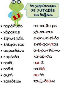School Play, Speech Therapy, Plays, Greek, Language, Words, Design, Speech Pathology, Games