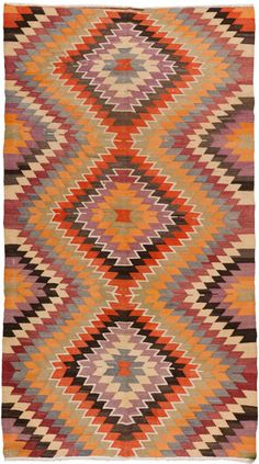 Turkey, Kilim Rug, wool, c. mid-20th c.
