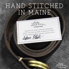 L.L.Bean Signature O Ring Belt - Made in Maine