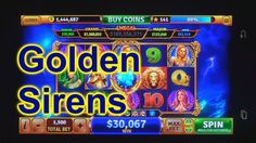 "HOUSE OF FUN Casino Slots How To Play ""GOLDEN SIRENS"" A Featured Game"
