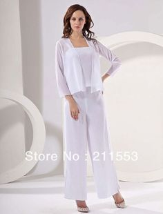 New Arrival White Cheap Mother of the Bride Pant Suits 2013 $119.00