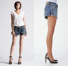 Diesel De-Mahima Denim Cutoff Shorts - Diesel 2014 Spring Summer Womens Preview Made in Denim Picks