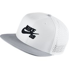 9ccaa5b671f The Nike SB Trucker Hat features raised embroidery and open mesh panels on  a flat-