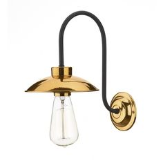 David Hunt Dallas Wall Light Copper: The Dallas Wall Light has a polished copper finish shade and backplate with black metalwork (bulb not inc Copper Wall Light, Copper Lighting, Retro Lighting, Luxury Lighting, Rustic Lighting, Lighting Store, David Hunt, Contemporary Wall Lights, Modern Wall