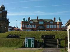 clock Tower on the Esplanade with Red Roofs the hospital in The Royal Scarborough England, Red Roof, Middlesbrough, North Yorkshire, Tower, Clock, Sea, Mansions, House Styles