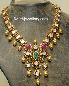 antique polki diamond necklace