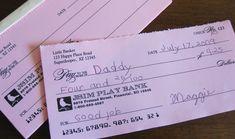 Free Printable Pretend Checks for Kids