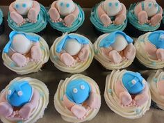 Baby Bum Baby Shower Cupcakes | Flickr - Photo Sharing!