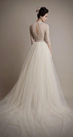 beautiful photo of the #nicolemiller Lauren bridal gown 3333 520 4 Nicole Miller Bridal Scrapbook artist Lara Harris so pretty! ♥