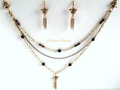 Chain Jewelry Set / Multi-strand Chain Necklace Set /