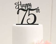 Image result for 75th birthday images for cakes