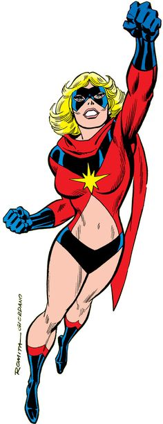 Ms. Marvel (Carol Danvers) during the 1970s. From http://www.writeups.org/ms-marvel-comics-carol-danvers-3/