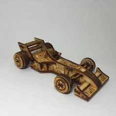 3D Race Car eco wood puzzle with the rotating by LaserMiracle