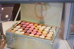 A Box of Ladurée macaroons.