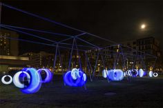 """Swing Time: Glowing Swings in a Grown-Up Playground or """"reasons to visit Boston"""""""