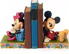 Disney Jim Shore Mickey and Minnie Mouse Bookends $79.99