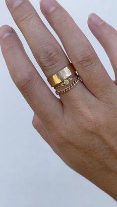 14K Yellow Gold Minimalist Ring Jewelry Warm Golden Glow Gift Idea Wedding Jewelry
