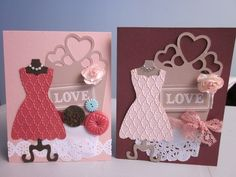 Stampin' Up - All Dressed Up  by Sue B's Paper Creations #stampinup #cards #crafts