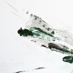 Annie Noa contemporary painting details. Acrylics on small 30x30cm canvas. Modern minimalistic art. Green, grey and pale pink. Structure. www.instagram.com/theannienoa