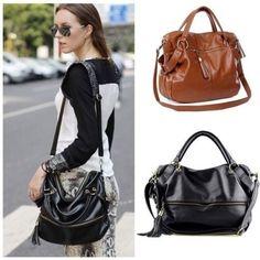 Lady Handbag Shoulder Bag Tote Purse PU Leather Messenger Hobo = 1697434692