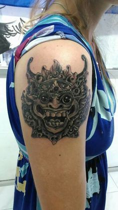 Happy Barong mask Balinese pride  Blessinkart tattoo parlor