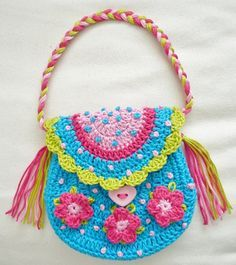 easy bags to crochet for girls - Buscar con Google