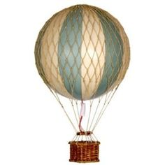 hot air balloon in beautiful colours, ass a blush pink and this is close to my colour scheme