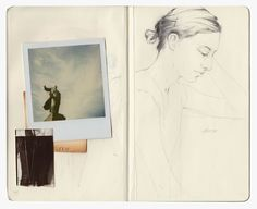 Miso sketchbook: good idea for having a photo on the one side and trying to draw that photo on the other