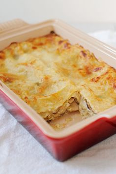 """Hunker Down With This Hearty Mushroom-Leek Lasagna This recipe drew me in with it's """"Incredibly good lasagna"""" headline. . . . ."""